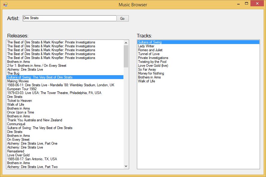 Trinity RDF | Music Browser